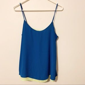 The Limited blue and green lined tank top